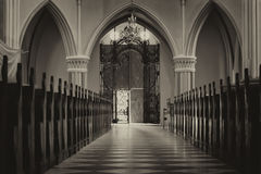 Innenraum der Kirche Stockfotos