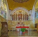 Innenraum der Kirche der Geißelung Lizenzfreie Stockfotos
