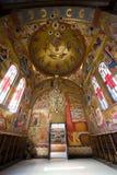 Innenraum der 'Kirche der sieben Apostel' Lizenzfreie Stockfotos