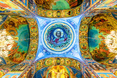 Innenraum der Kirche des Retters auf Spilled Blut, St Petersburg Russland stockfotografie