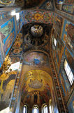 Innenraum der Kirche des Retters auf verschüttetem Blut, St Petersburg Lizenzfreie Stockfotos