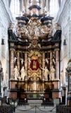 Innenraum der Kirche Ober Pharkirche mit dem barocken Altar in Bamerg Stockbild