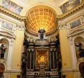 Innenraum der Kirche in Turin Stockbild