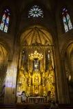 Innenraum der Kirche von San Saturnino oder von San Cernin in Pamplona, Navarra, Spanien lizenzfreie stockfotografie