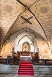 Innenraum der Kirche von Santa Maria-degli Angioli Lugano switzer stockfotografie