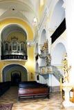 Innenraum der Kirche von St Mark in Litovel Lizenzfreie Stockfotos