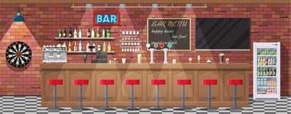 Innenraum der Kneipe, des Cafés oder der Bar lizenzfreie abbildung