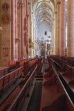 Innenraum der lutherischen Kirche Ulm, Baden-Wrttemberg, Deutschland stockfotografie