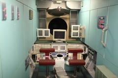 Innenraum der MIR-Raumstation Stockfotos