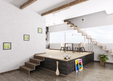 Innenraum der modernen Wohnung Stockfoto