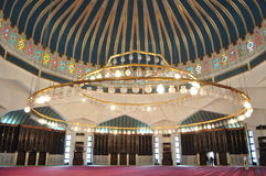 Innenraum der Moschee Lizenzfreie Stockfotos