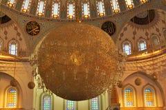 Innenraum der Moschee in Ankara, die Türkei Lizenzfreie Stockbilder
