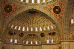 Innenraum der Moschee in Ankara, die Türkei Stockfotos