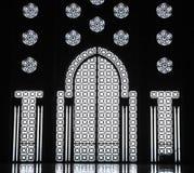 Innenraum der Moschee von Hassan II Stockfotos