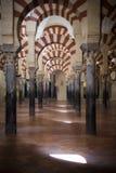 Innenraum der Moscheekathedrale von Cordoba in Andalusien Lizenzfreies Stockfoto