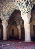 Innenraum der Nasir-Ol-Moschee, Isfahan stockfotografie