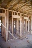 Innenraum der neuen Wohnanlage im Bau Stockbild