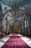 Innenraum der orthodoxen Kirche Stockfotos