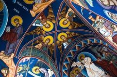 Innenraum der orthodoxen Kirche Lizenzfreie Stockfotografie