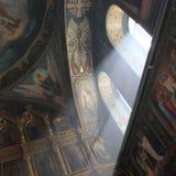 Innenraum der orthodoxen Kirche Stockbild