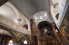 Innenraum der orthodoxen Kirche stockbilder