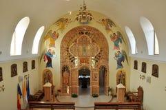 Innenraum der orthodoxen Kirche. Rumänien stockfotos