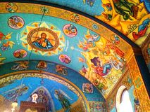 Innenraum der orthodoxen Kirche von Certeju de Sus Lizenzfreie Stockfotografie