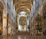 Innenraum der Parma-Kathedrale Lizenzfreies Stockfoto