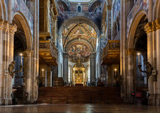 Innenraum der Parma-Kathedrale Stockfoto