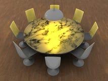Innenraum der runden Tabelle Stockfotos