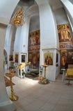 Innenraum der russischen orthodoxen Kirche Lizenzfreies Stockbild