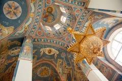 Innenraum der russischen orthodoxen Kirche Lizenzfreie Stockbilder