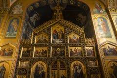 Innenraum der serbischen orthodoxen Kirche in Zagreb, Kroatien Lizenzfreie Stockbilder
