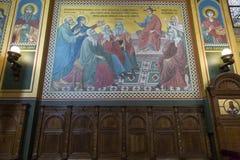 Innenraum der serbischen orthodoxen Kirche in Zagreb, Kroatien Lizenzfreie Stockfotografie