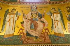 Innenraum der serbischen orthodoxen Kirche in Zagreb, Kroatien Lizenzfreies Stockbild