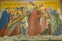 Innenraum der serbischen orthodoxen Kirche in Zagreb, Kroatien Stockfotografie