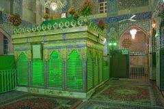 Innenraum der Shiamoschee in Yazd Stockfotos
