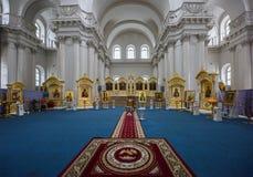 Innenraum der Smolny-Kathedrale St Petersburg, Russland Stockbilder