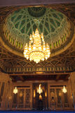 Innenraum der Sultan Qaboos Moschee - Muskatellertraube, Oman Lizenzfreies Stockbild