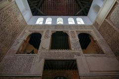 Innenraum der Synagoge in Cordoba, Andalusien, Spanien stockfotografie