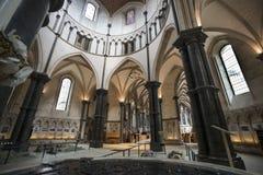 Innenraum der Tempel-Kirche London England Lizenzfreie Stockbilder
