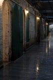 Innenraum des Alcatraz Gefängnisses lizenzfreie stockfotografie