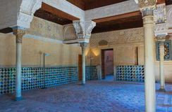 Innenraum des Alhambra-Schlosses, Granada, Spanien Lizenzfreie Stockfotografie