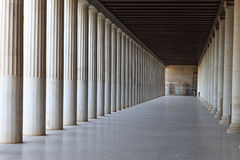 Innenraum des alten Agoras Stockfotografie