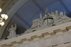 Innenraum des Börsegebäudes in St Petersburg, Russland Lizenzfreie Stockfotos