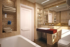 Innenraum des Badezimmers Lizenzfreies Stockfoto