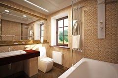 Innenraum des Badezimmers Lizenzfreies Stockbild