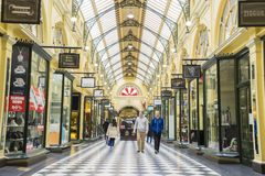Innenraum des Block-Säulengangs in Melbourne Lizenzfreie Stockfotografie