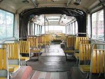 Innenraum des Busses Stockbild