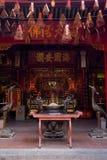 Innenraum des chinesischen Tempels in Vietnam stockfotos